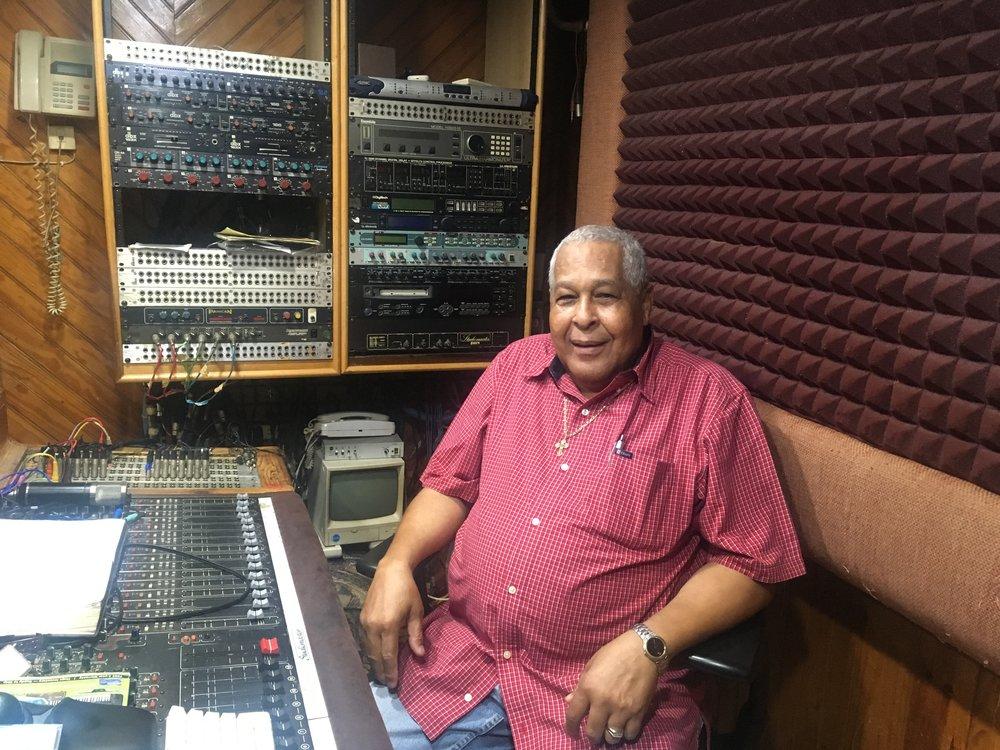 Dancehall Legend King Jammy's in his studio