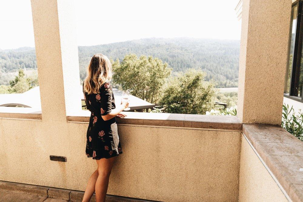 hidden in the Calistoga hills... -