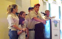 Kids at the podium