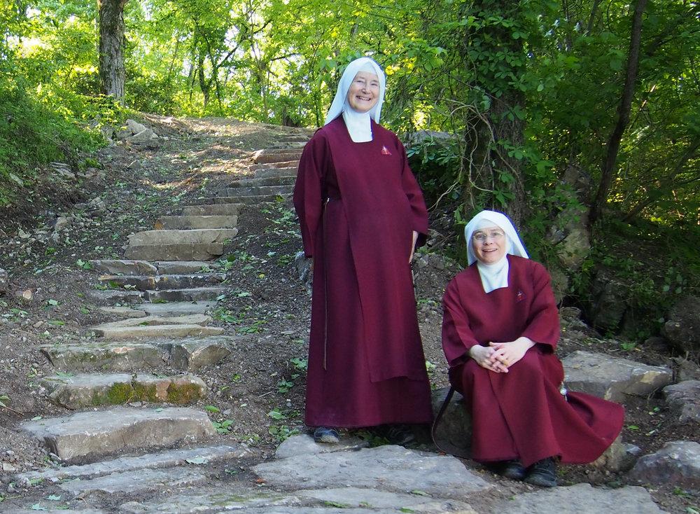 Mother Marietta Sister Rose Philomena near river landscape.jpg