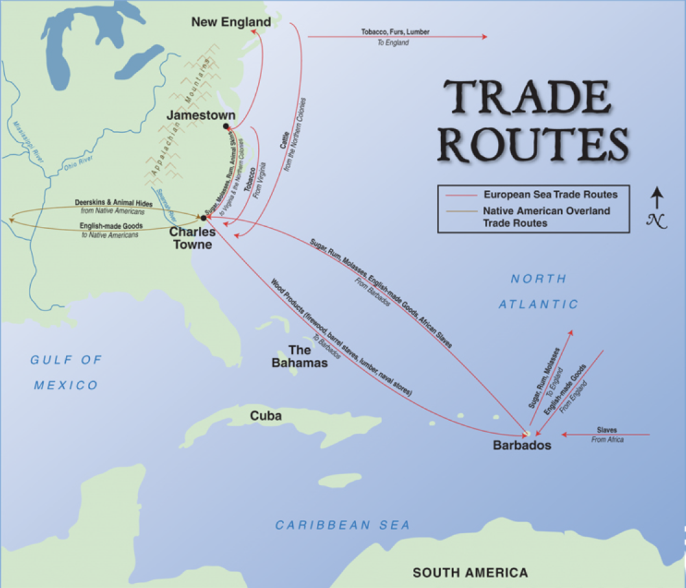 Trade Routes & Products Shipped