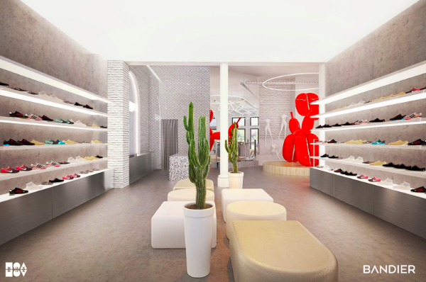 Rendering of the new Bandier store