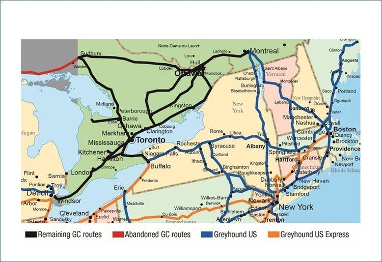 Ontario Route Map — Greyhound Canada News