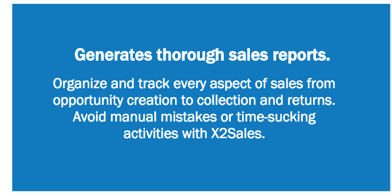 Generates thorough sales reports.