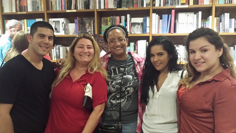Surprise! - March 2016. M.J.'s students came to support her at a reading at Books & Books, in Coral Gables