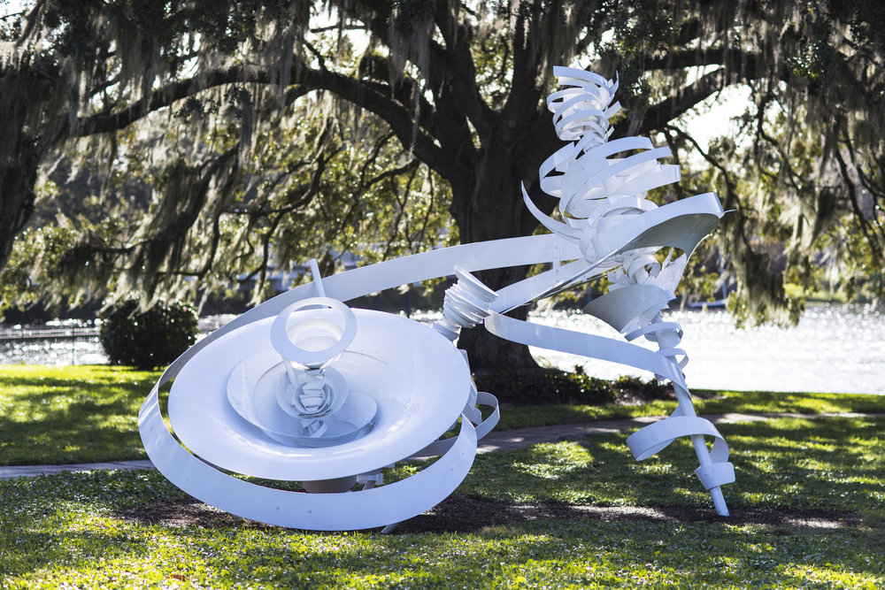 Temporary installation at The Mennello Museum of American Art - Waltzing Matilda and Twin Vortexes are on view at The Mennello Museum of American Art in Orlando, FL, through Fall 2019.