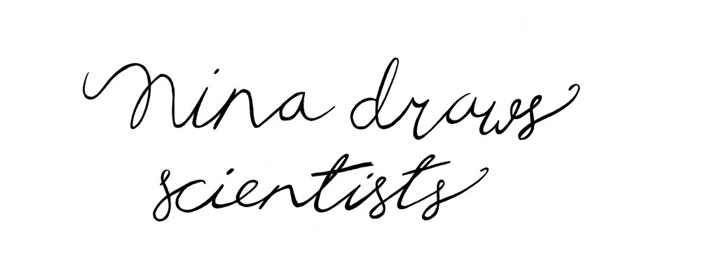 Nina draws scientists