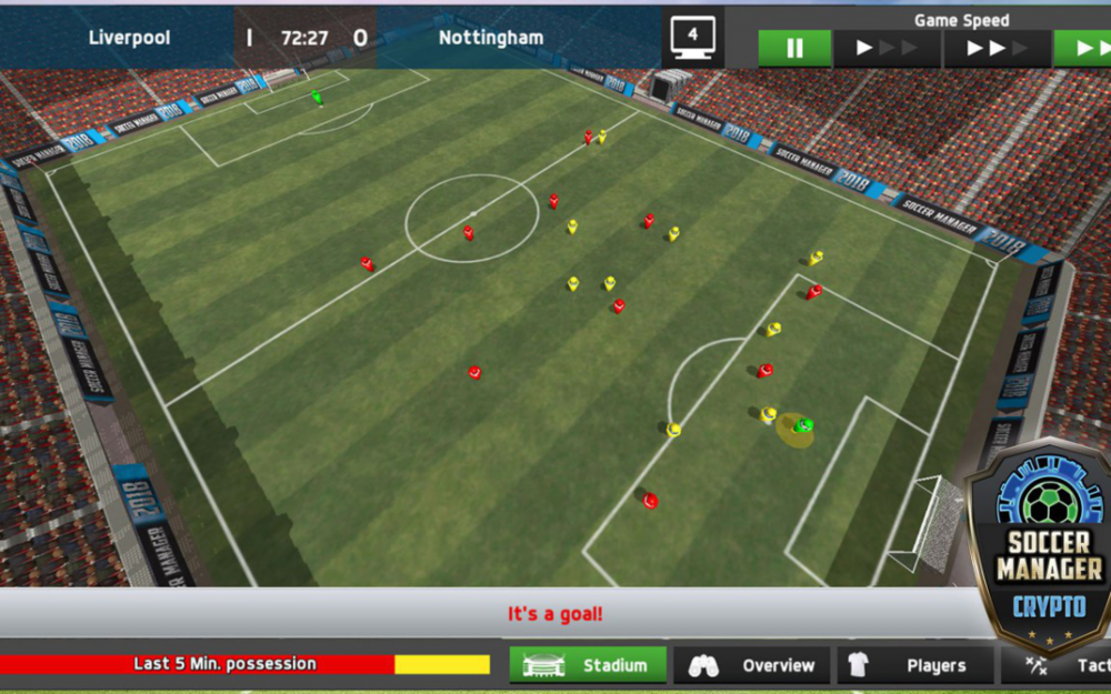 First in-game screenshot we've come across for  Soccer Manager Crypto.   Source:  Soccer Manager