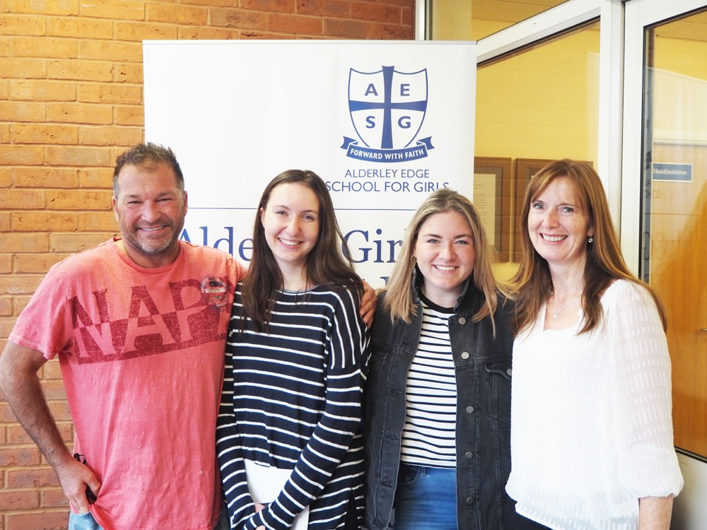 AES Well done to Katrina Thornber (pictured with family) on achieving your place at Bristol University to study Neuro Science!.jpg