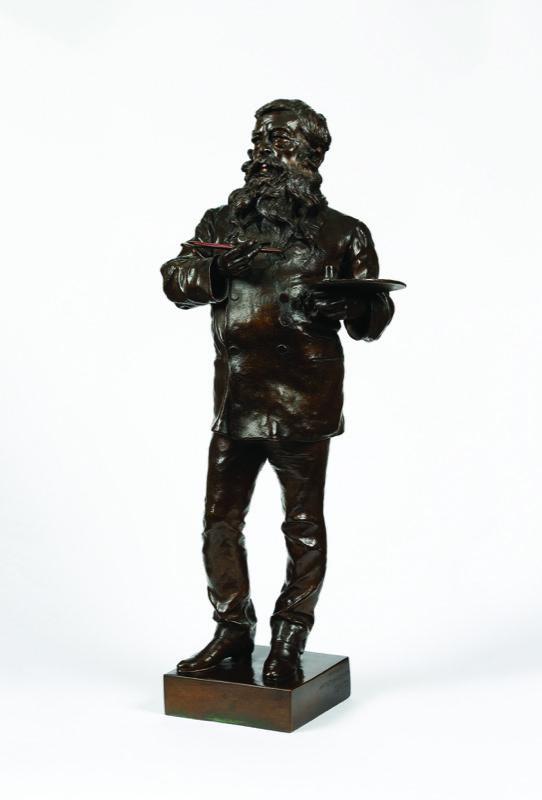 HR GARRET& HURST SCULPTURE Bronze Vincenzo Gemito 1852-1929, Meissonier.JPG