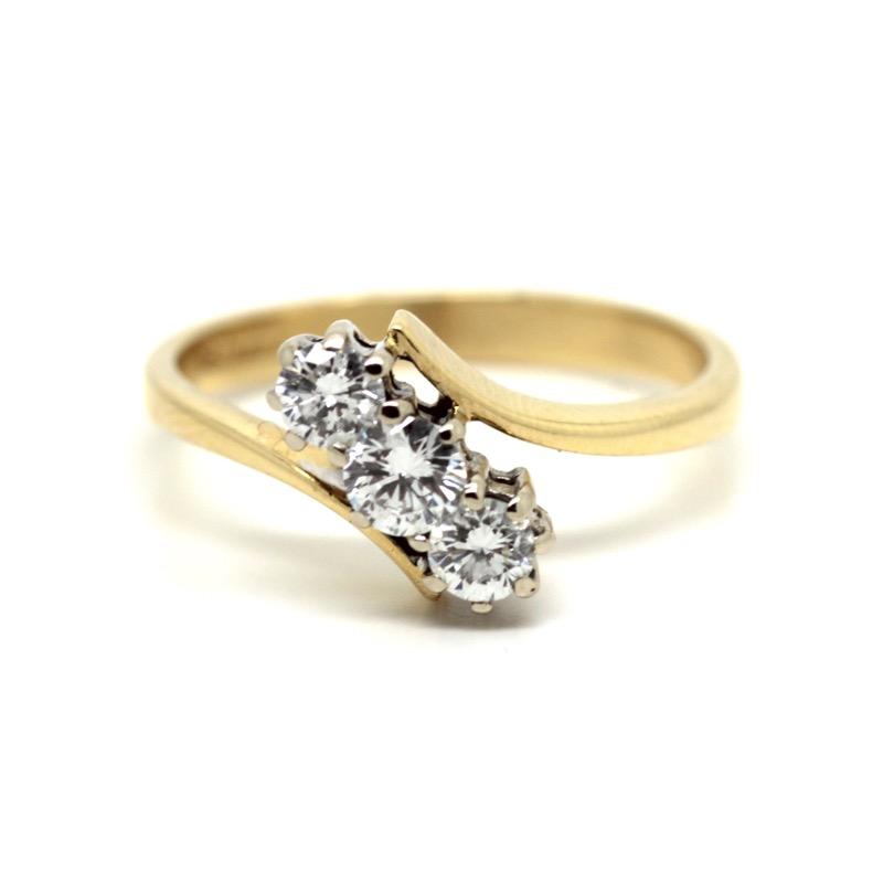 HR GREENSTEIN ANTIQUES Art Deco three stone ring.JPG