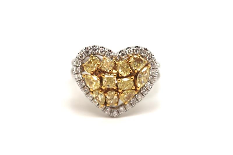 HR GREENSTEIN ANTIQUES fancy yellow diamond heart ring.JPG