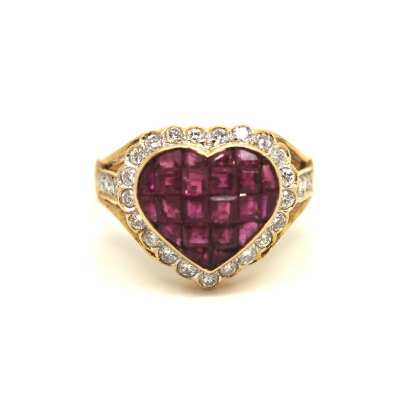 HR GREENSTEIN ANTIQUES ruby & diamond heart ring.JPG