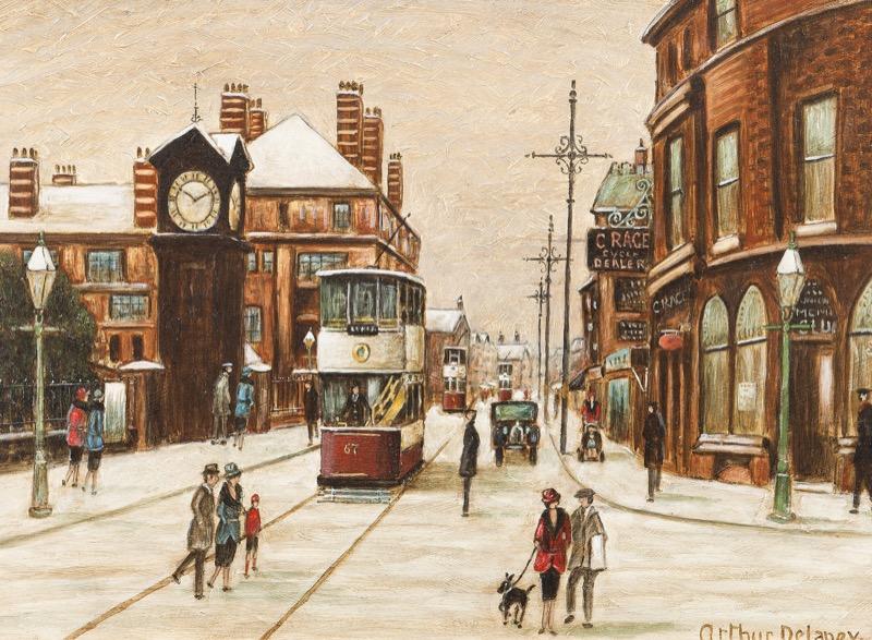 HR HAYNES FINE ART, Arthur Delaney Aldringham Street scene.jpg