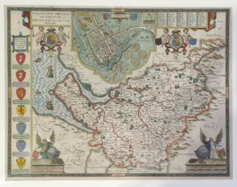 HR J DICKINSON MAPS & PRINTS John Speed map of Cheshire.jpg