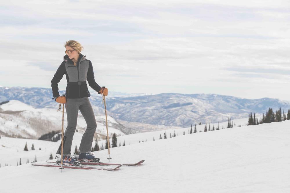 Kat Colour-Block Quilted Merino Wool-BLend Ski Jacket,   £1,245    Phia Flared Stretch-Cady Ski Pants,   £725    net-a-porter.com