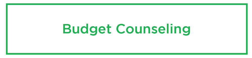 - One-on-one personal or household budget counseling. In-person or by phone.