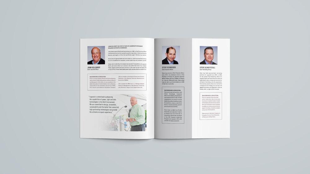 Legrand, North & Central America: Executive Leadership Brochure - Spread 1