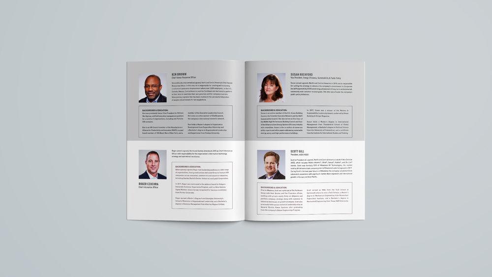 Legrand, North & Central America: Executive Leadership Brochure - Spread 2