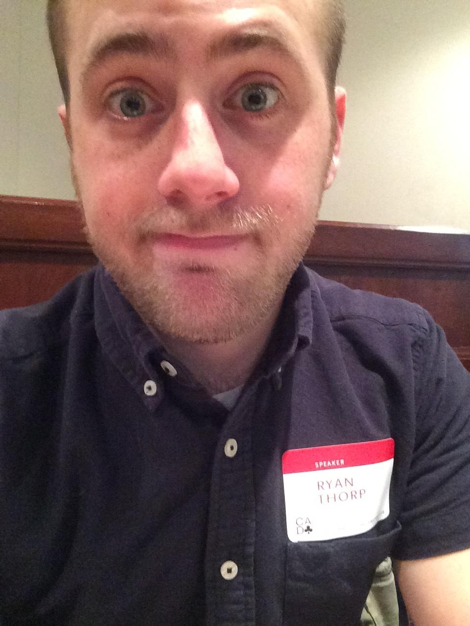 04.30.16 - Selfie prior to speaking