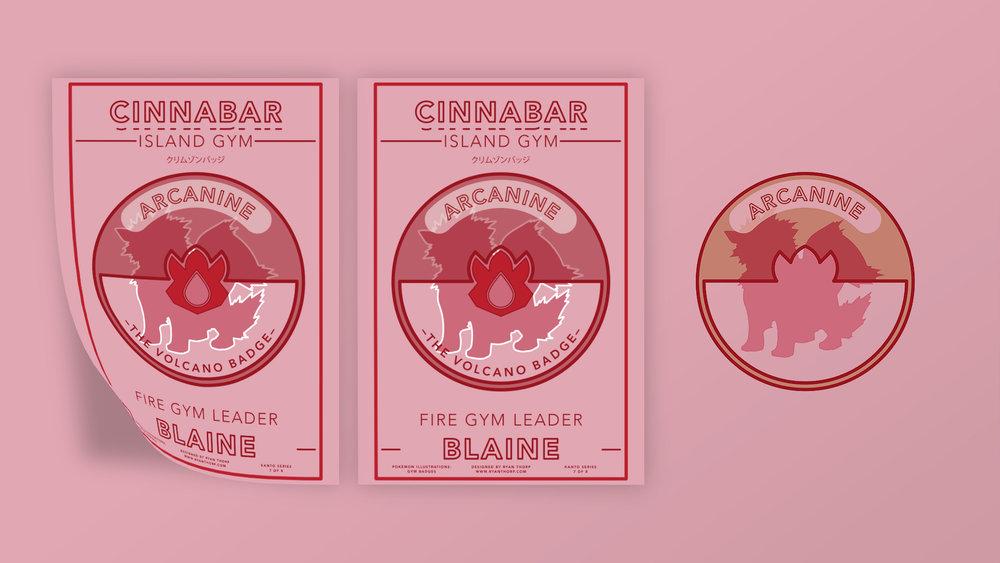 Cinnabar Island Gym Poster