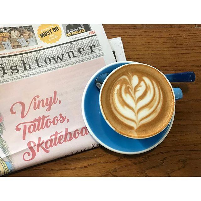 Vinyl, tattoos, skateboards. . . . #coffee #coffeeshop #thespoke710 #kentishtowner #northlondon #london #vinyl #tattoo #skateboading #flatwhite #aesthetic #pink #coffeeaddict #coffeemagazine #architecture #archway #holloway #kentishtown #coffeeshopsoftheworld