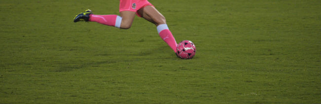 Famous_Amos via flickr Pink soccer girl