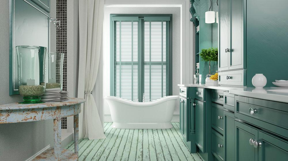 Green Bathroom City Home Center Laurel MS