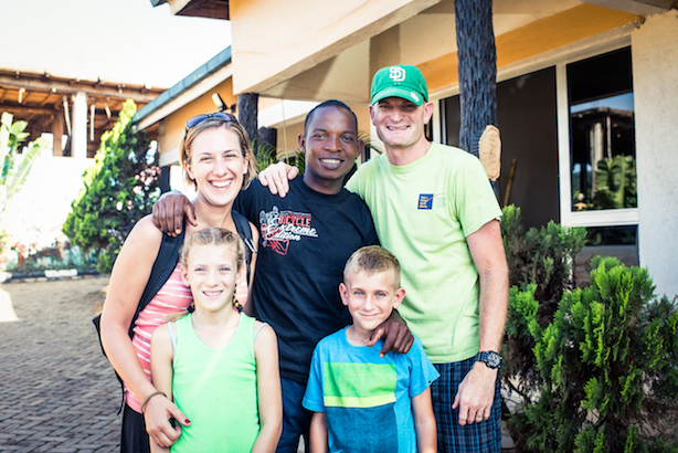 The McDaniel Family with their sponsored son, Vincent, 2016