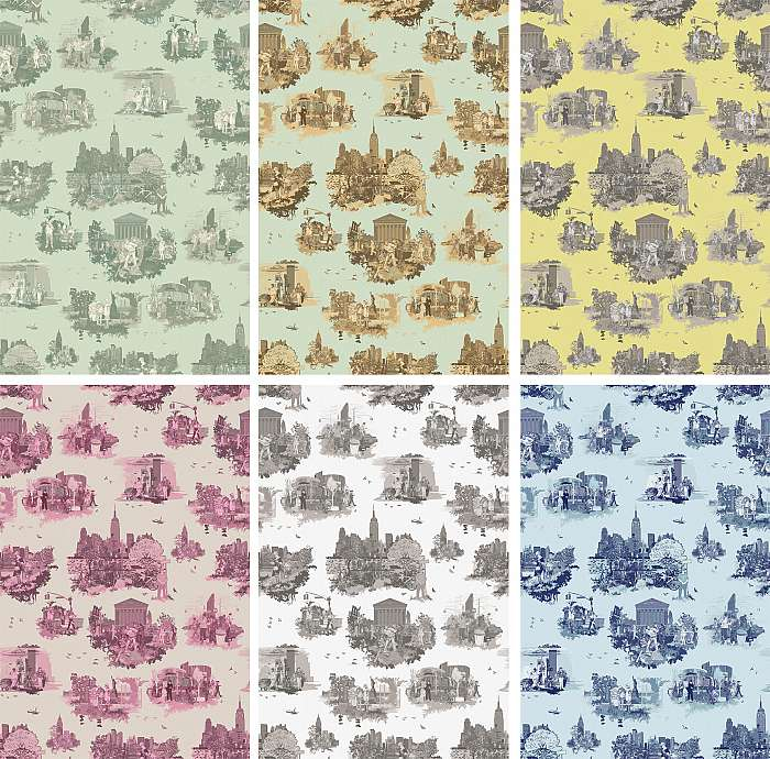 New York Toile in a range of colours