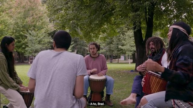 The rhythm is in all of us. Except Brad. #bellwoods #trinitybellwoods #hippies #chakra #rumi #drums #comedy #lol #lmao #kombucha #improv #the6ix #webseries #freeexpression