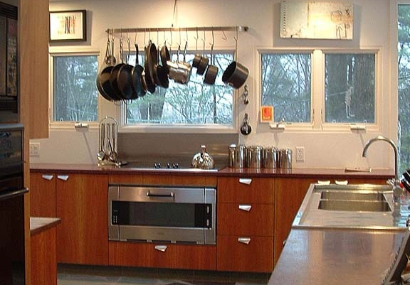 new kitchen in a mid-century modern home