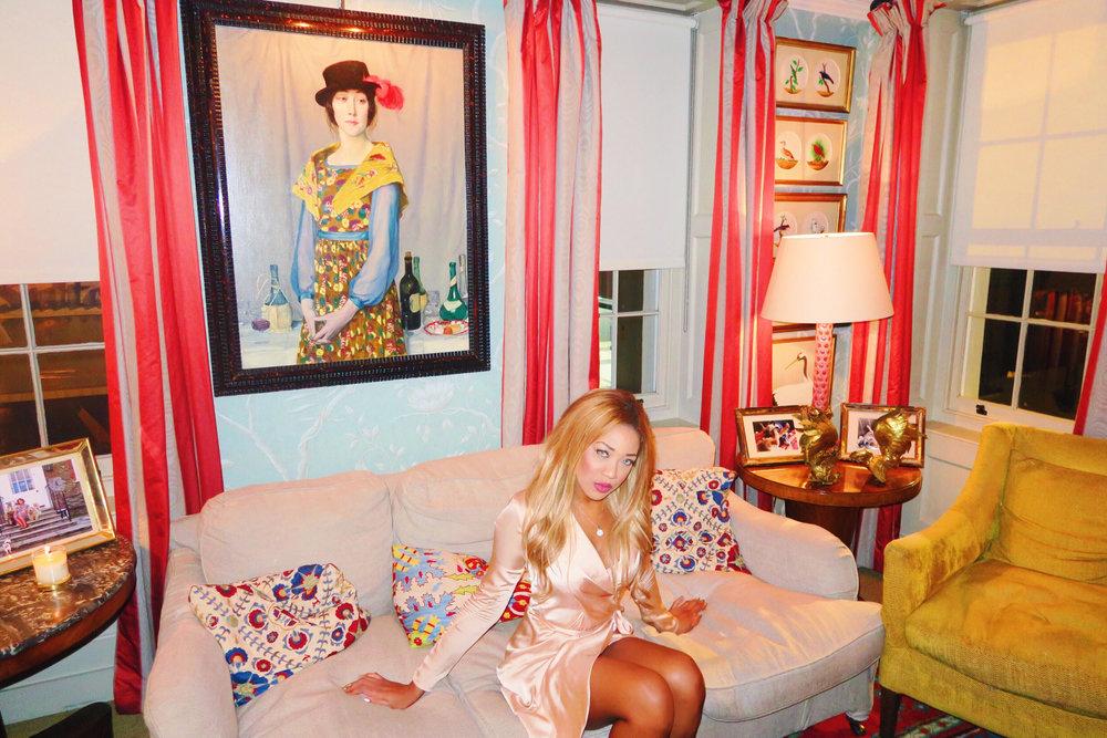 gina rio + georgina rio + celebrity + mayfair + lou lous + 5 hertford street + memebers club + silk dress + blush + hot + sexy + dress + date dress 1.jpg
