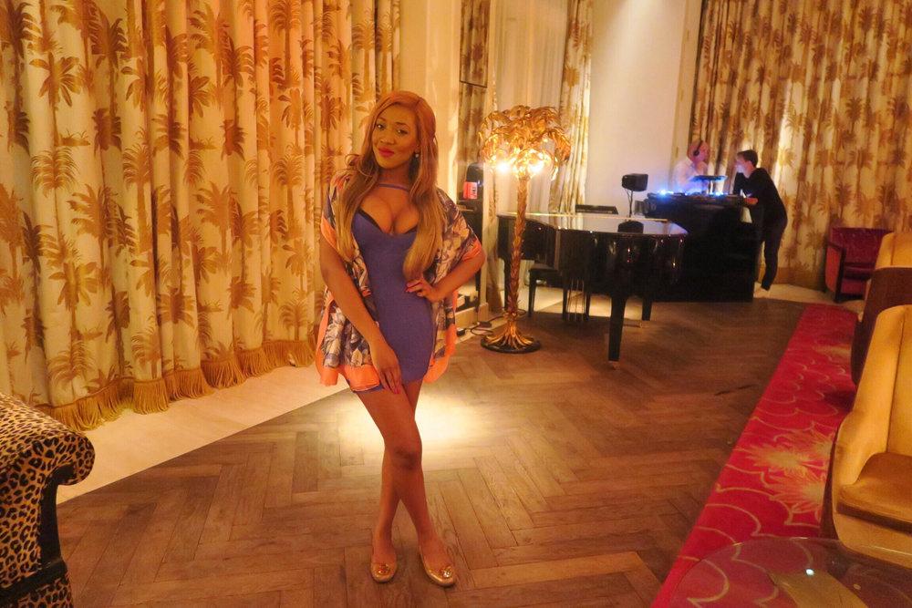 sexy summer bandage dress + guess + silk + comfy + hot + girl + miami + faena hotel miami beach + bar + luxury .jpg