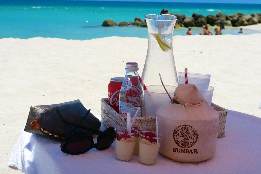 louis vuitton + free beach food + faena miami beach  + luxury + coconut water + real + beach food.jpg