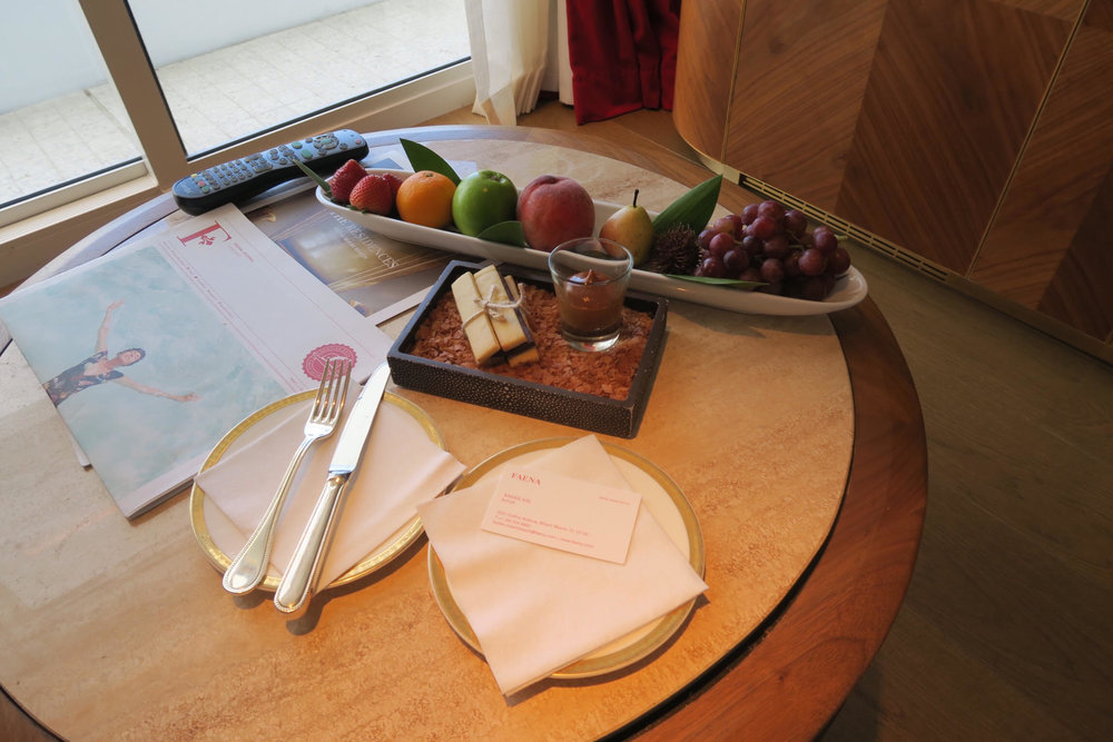 luxury + platter + plate of fruit + bowl + faena hotel + fine dining + good service + review + blog .jpg