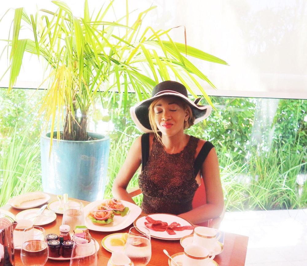 black hat + bow + beach dress + diy + food + faena hotel + miami beach + review + luxury hotel + holiday + stay + 5 star miami hotel + family + gina rio + gerogina rio  + big boobs + hot + beach look + pool side + outfit + bikini + breakfast + sleepy.jpg