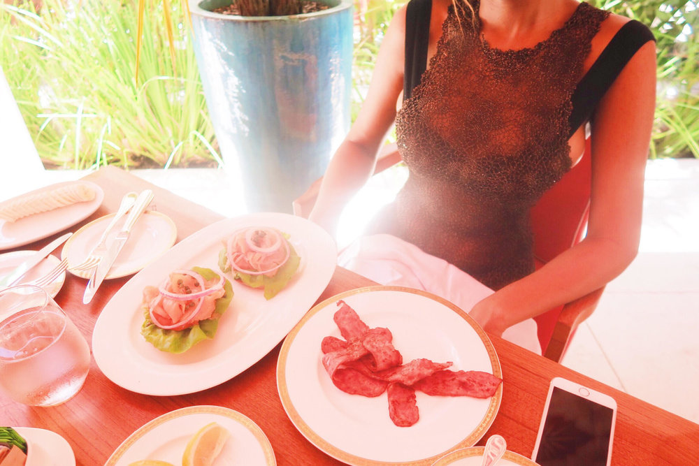 food + turkey bacon + slamon + presentation + food + faena hotel miami beach.jpg