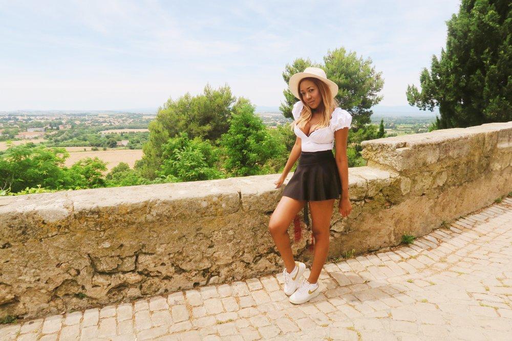 style + casual + sexy + gina rio + blogger + frill skirt + hem skirt .jpg