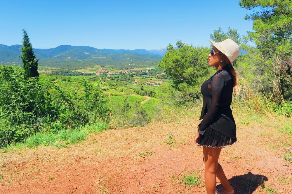 2 style + fashion + chanel sunglasses + hat + isabel marant frill skirt black + statement ring + ruby woo listick + mac + view + france .jpg