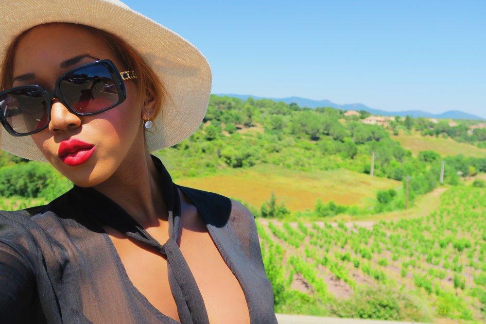 style + fashion + chanel sunglasses + hat + isabel marant frill skirt black + statement ring + ruby woo listick + mac + big lips.jpg