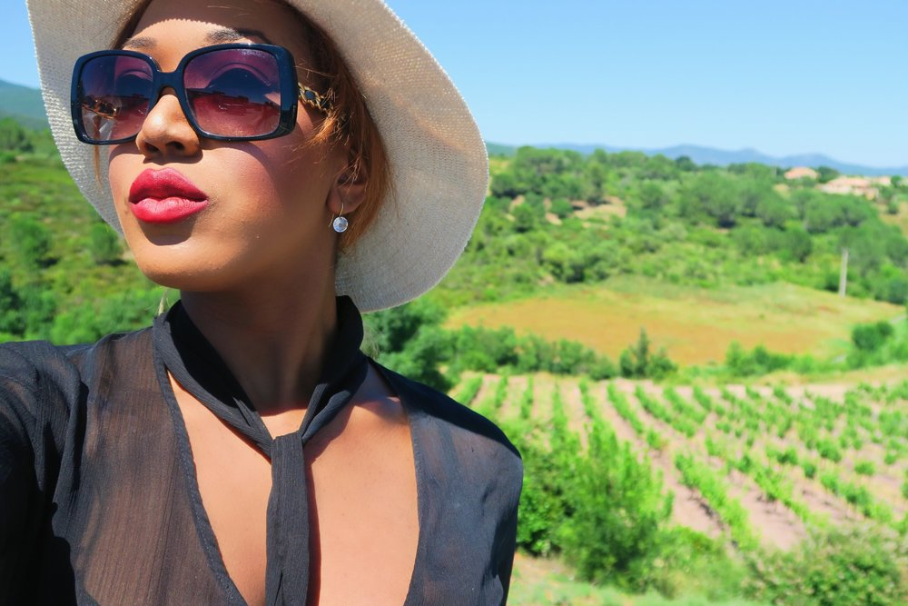 style + fashion + chanel sunglasses + hat + isabel marant frill skirt black + statement ring + ruby woo listick + mac + lips.jpg