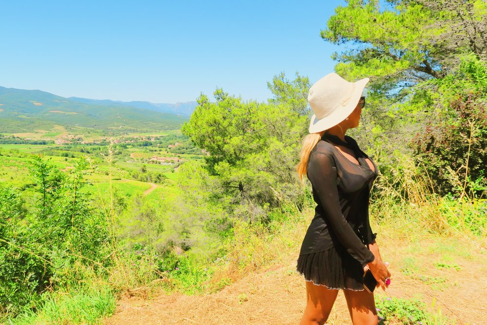 style + fashion + chanel sunglasses + hat + isabel marant frill skirt black + statement ring + ruby woo listick + mac + view + france .jpg