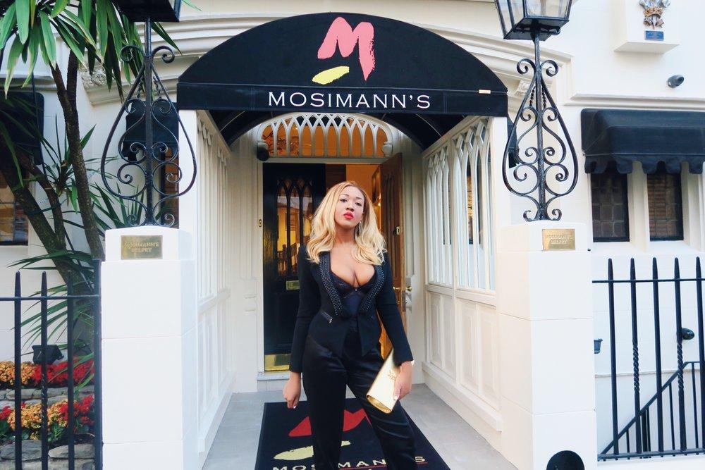 georgina rio + gina rio + style + belgravia + mosimanns restaurant + gold ysl bag + alexander wang silk satin + jimmy choo shoes + rich + wealthy + luxury.jpg