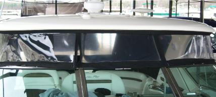 Sea Ray Enclosure Before EZ-Xtend Boat Zippers