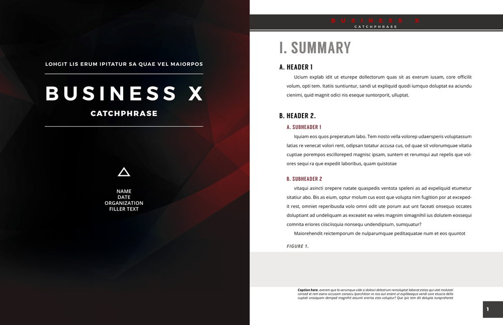 business report template -