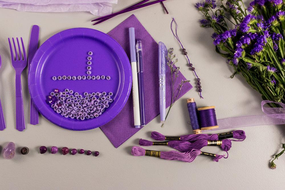 Purple Collage - Details 01