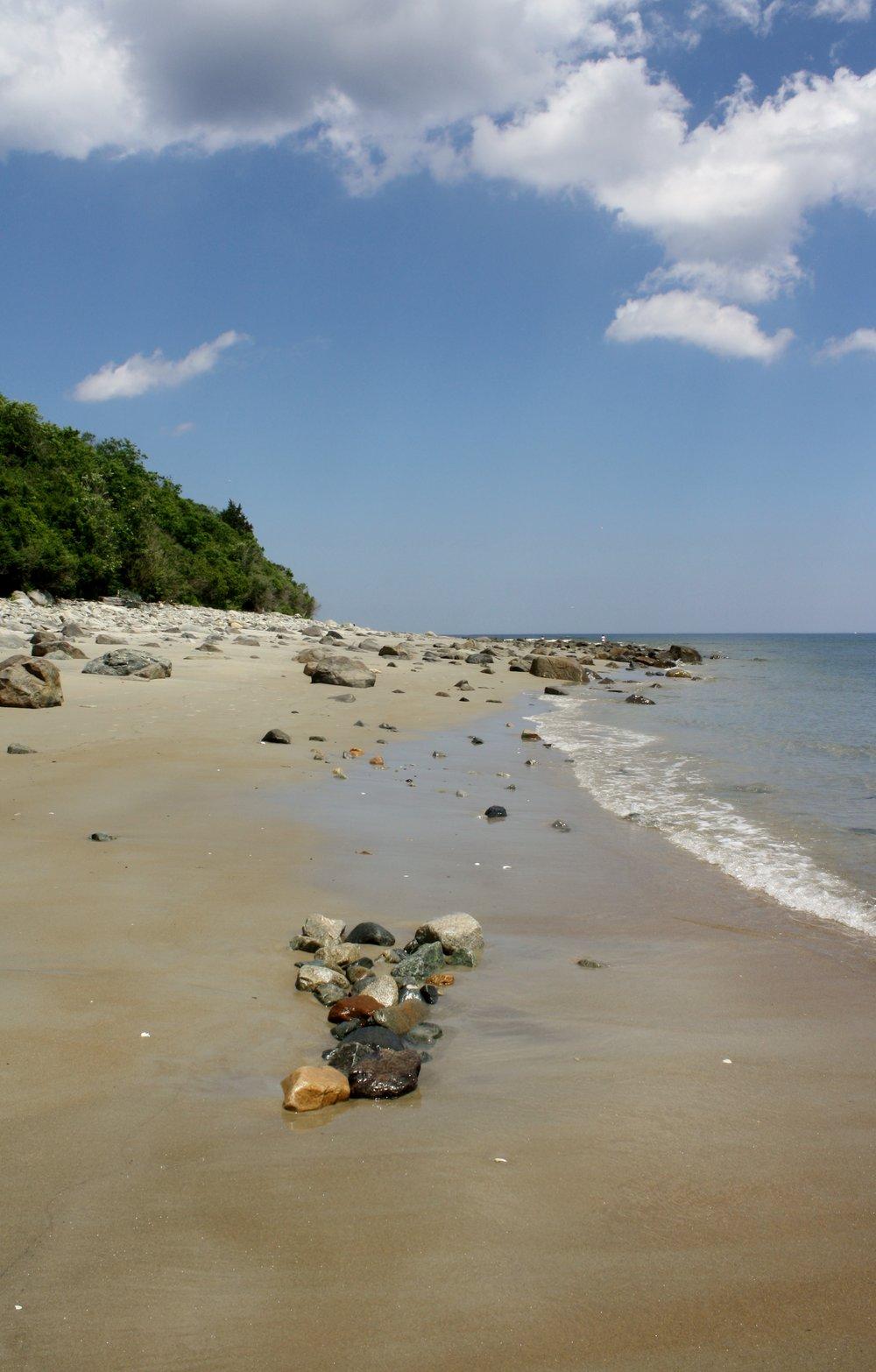 Rocks along the shore...