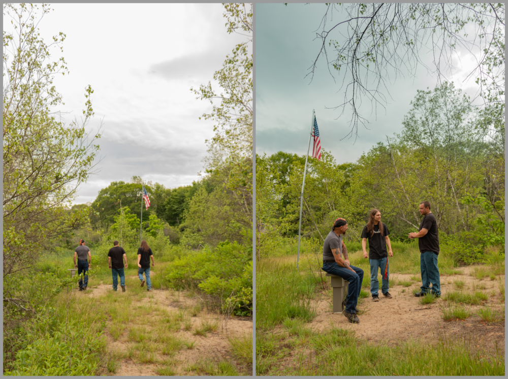 Finding the Flagpole at Mill Villages Park, South Grafton, MA