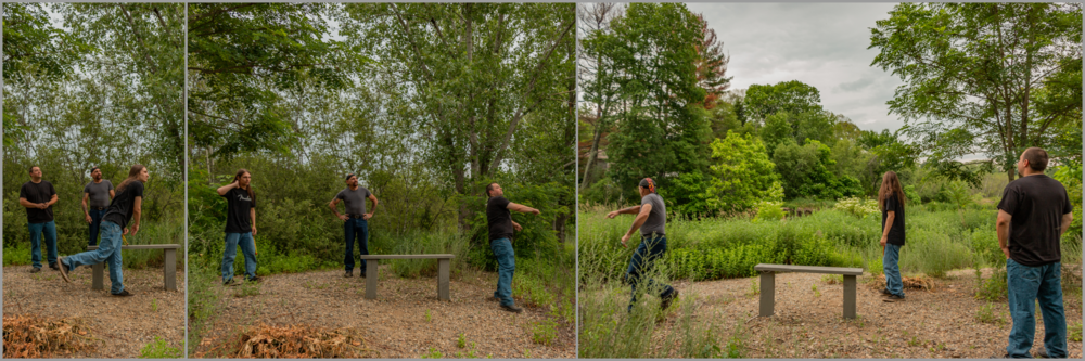 Let's see who can throw a rock the farthest into the river... (Everyone won!)